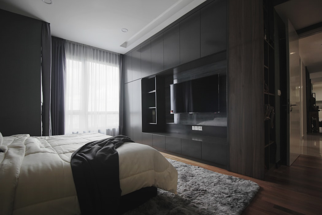 Project RB / Metropark:  Bedroom by SIXTH Interior Sdn Bhd, Rustic