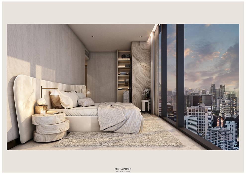 :  ห้องนอน โดย Metaphor Design Studio,