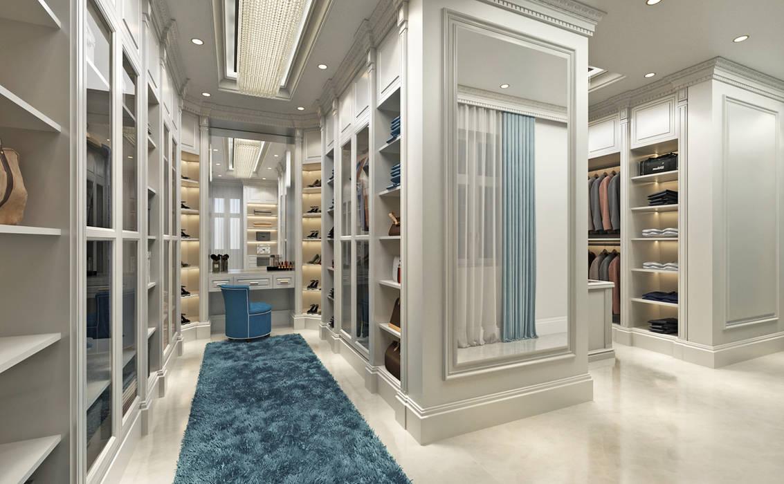 Sia Moore Archıtecture Interıor Desıgn – Soyunma Odası - 2 / Majidi Konağı:  tarz Giyinme Odası,