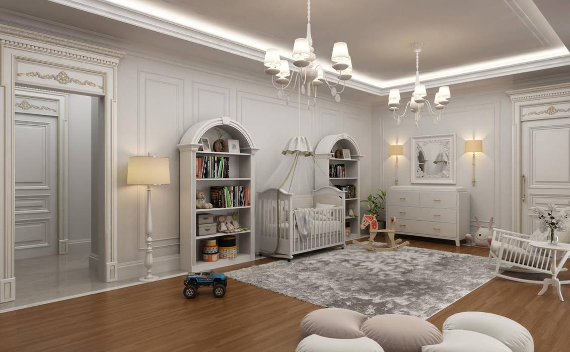 Sia Moore Archıtecture Interıor Desıgn – Bebek Odası / Majidi Konağı :  tarz Küçük Yatak Odası,