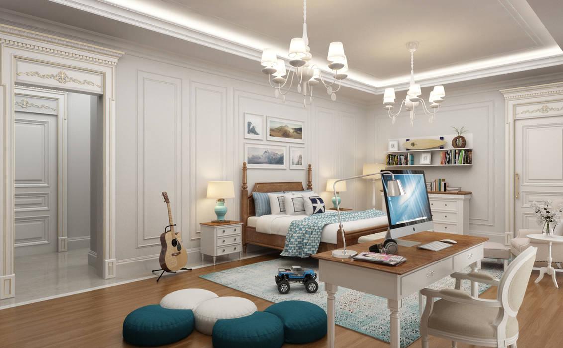 Sia Moore Archıtecture Interıor Desıgn – Genç Odası / Majidi Konağı :  tarz Küçük Yatak Odası,