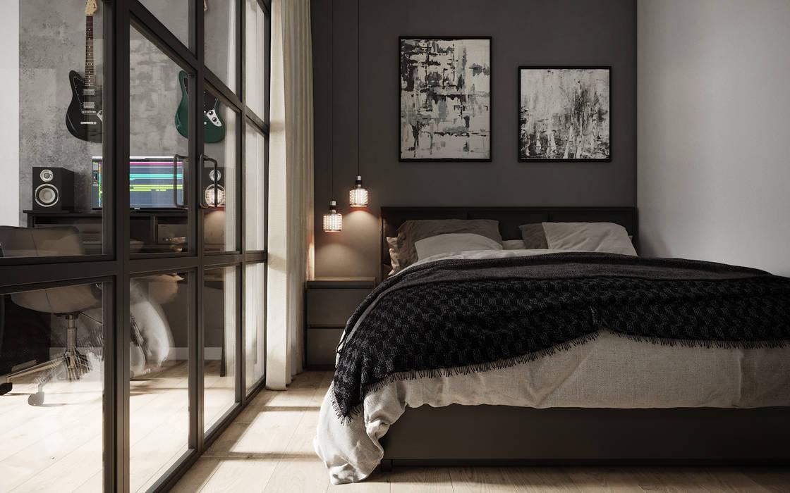 Королёв. Дизайн проект для Дарта Вейдра): Спальни в . Автор – Levitorria