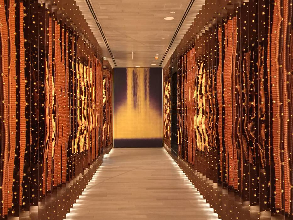Morimoto Koridor / Mondrian Doha Eklektik Oteller Sia Moore Archıtecture Interıor Desıgn Eklektik Bakır/Bronz/Pirinç