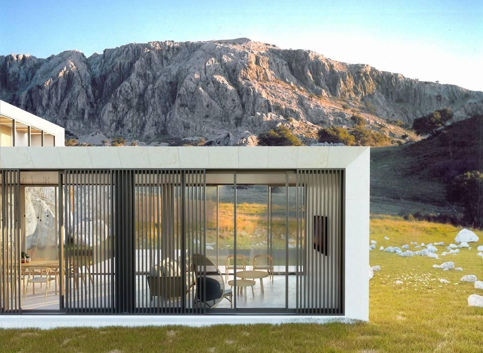 Vivienda moderna en el campo: Casas unifamilares de estilo  de POA Estudio Arquitectura y Reformas en Córdoba