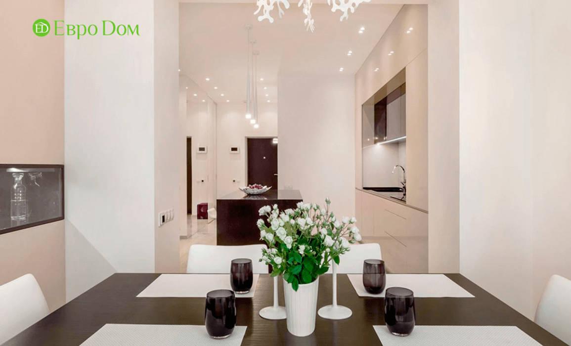Ремонт однокомнатной квартиры 59 кв. м в современном стиле: Столовые комнаты в . Автор – ЕвроДом, Минимализм