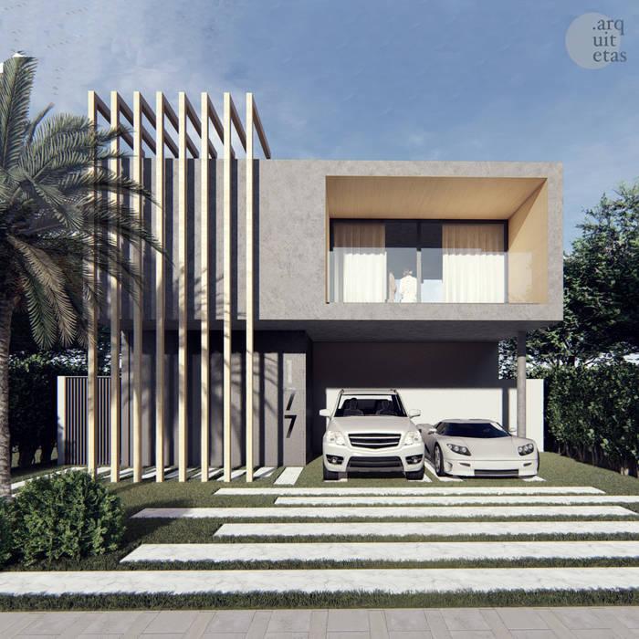 Fachada por PONTO ARQUITETAS Moderno Concreto