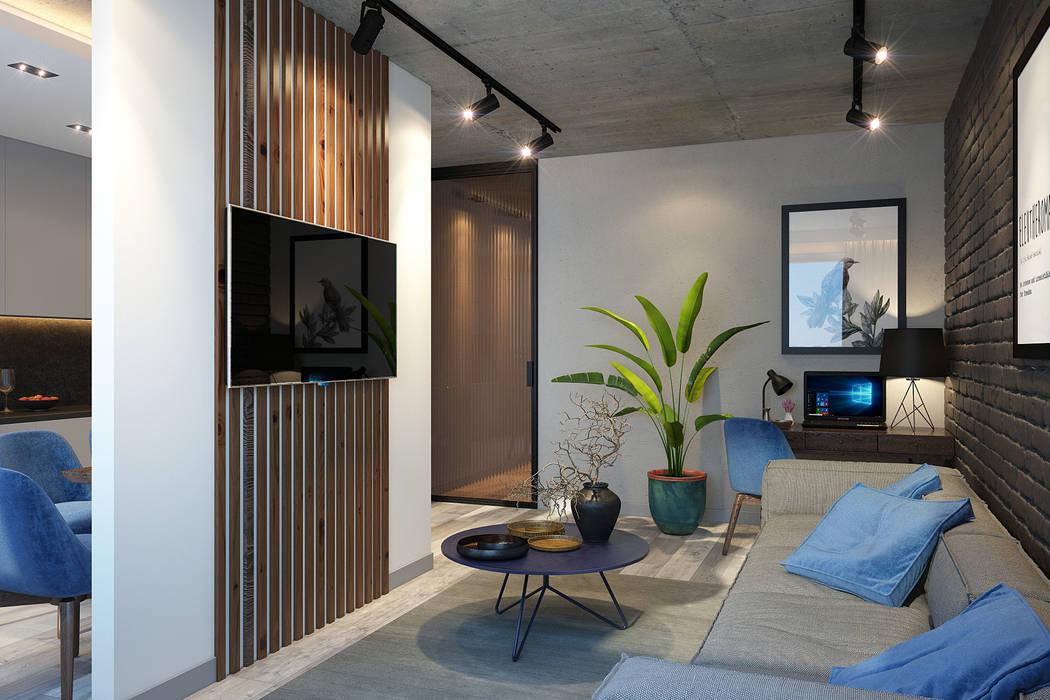 by dm-interiors.com.ua Industrial Concrete