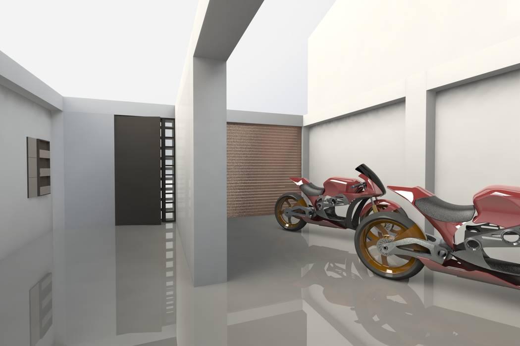 Garaje y accesos de MARROOM | Diseño Interior - Diseño Industrial Moderno
