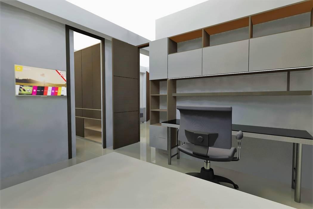 Estudio Estudios y despachos de estilo moderno de MARROOM | Diseño Interior - Diseño Industrial Moderno