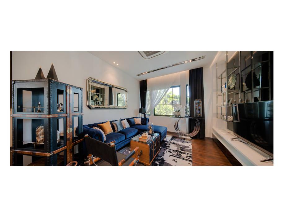 NS house / พระราม2 Thaan Studio ห้องนั่งเล่น