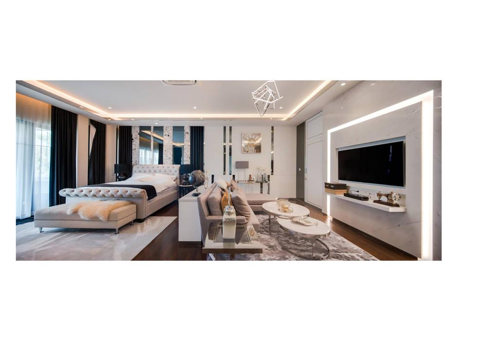 NS house / พระราม2:  ห้องนอน โดย Thaan Studio ,