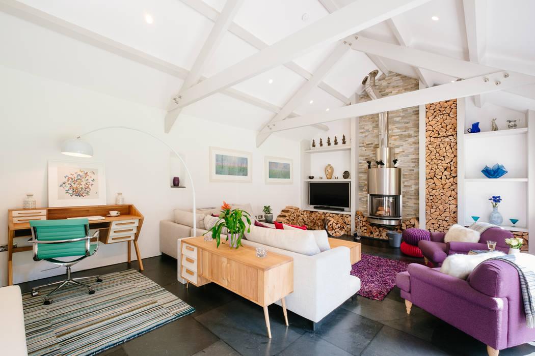 Mill Barn, Cardinham Salones de estilo rural de Perfect Stays Rural
