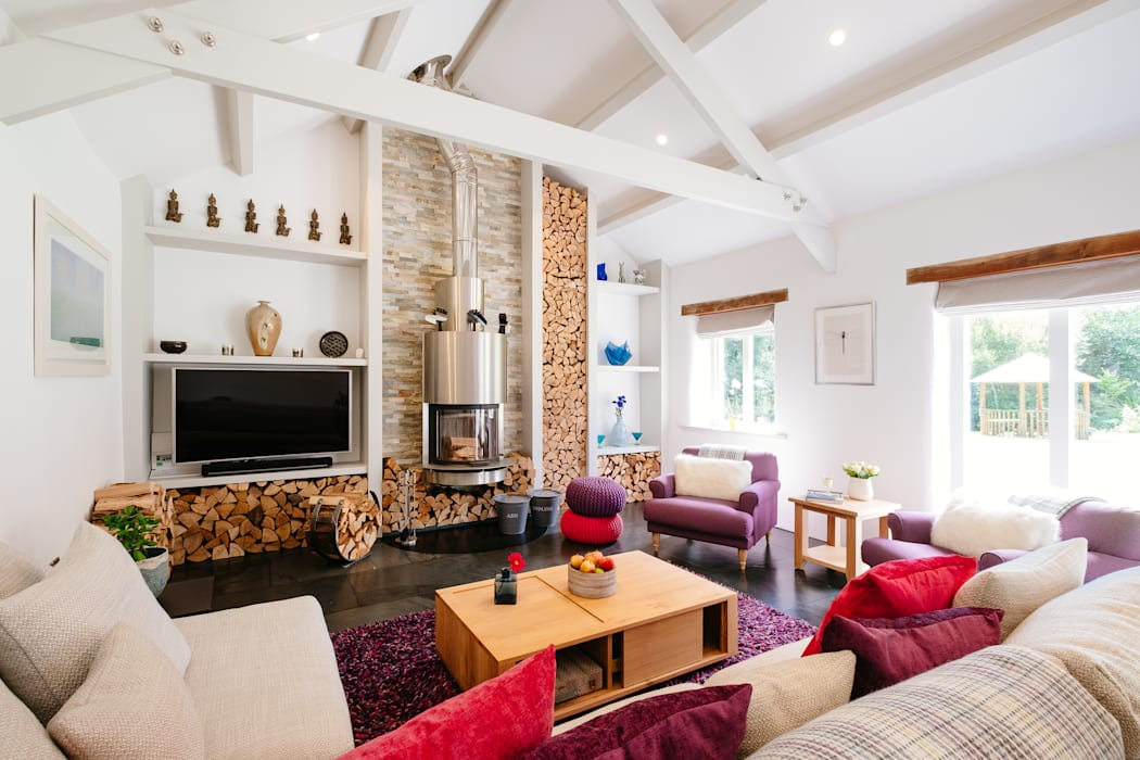Mill Barn, Cardinham Salones de estilo rural de Perfect Stays Rural