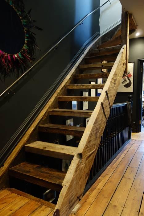 Fairfield South - Loft Conversion Staircase Brandler London Tangga Parket Wood effect