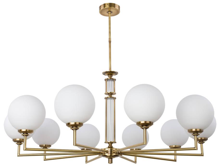 Artu Glass Designer Lamp Luxury Chandeliers 10 Armed Glass Lamp Shades Brass Lighting:  Stairs by Luxury Chandelier,
