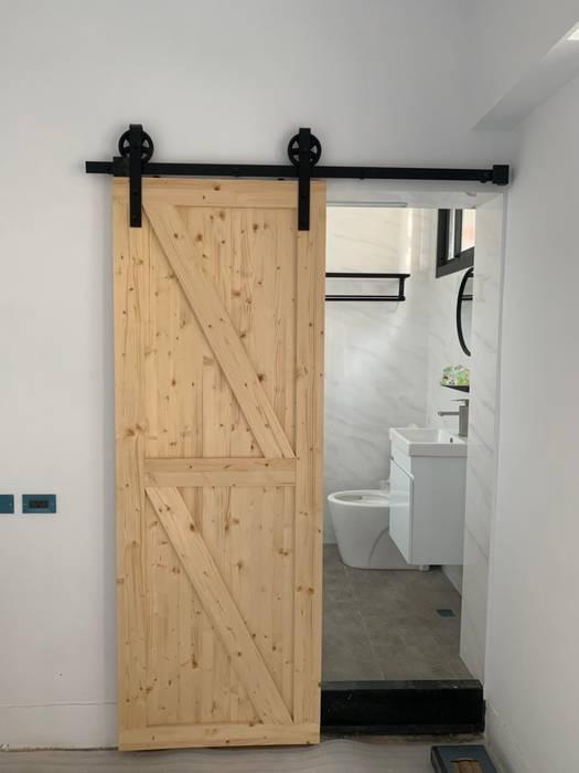浴室完成後的樣子:  浴室 by 寶瓏室內裝修有限公司, 北歐風