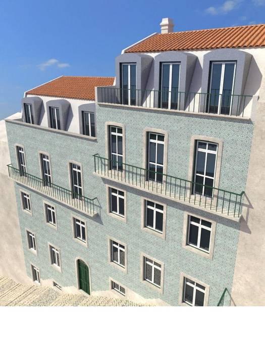 Fachada de edifício emblemático: Casas  por Lisbon Heritage