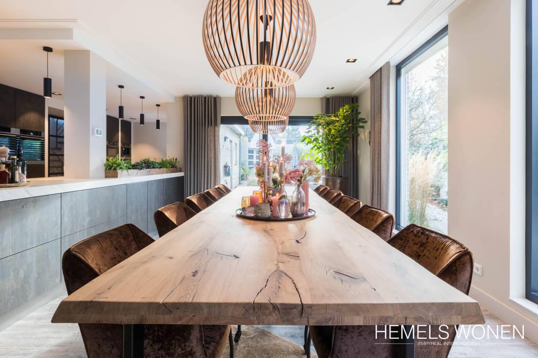 Opgewarmd design:  Eetkamer door Hemels Wonen interieuradvies