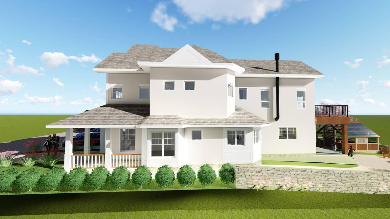 Casas de estilo  por Tuti Arquitetura e Inovação, Rural