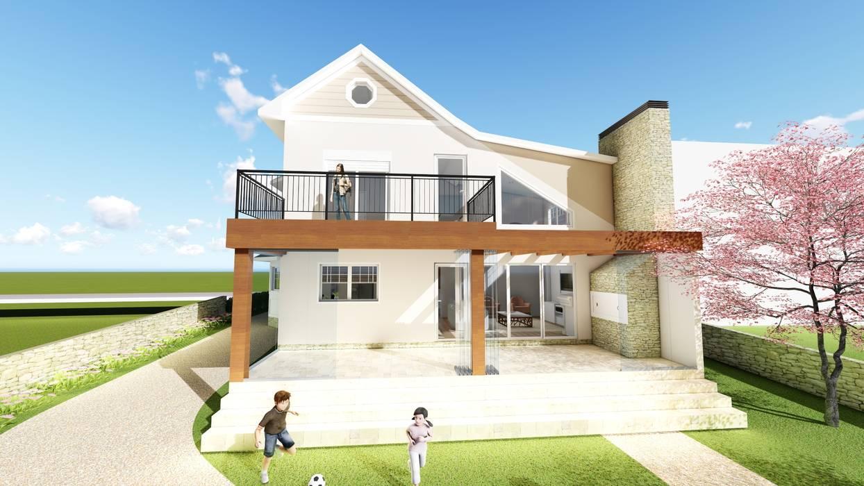 Rumah Gaya Country Oleh Tuti Arquitetura e Inovação Country