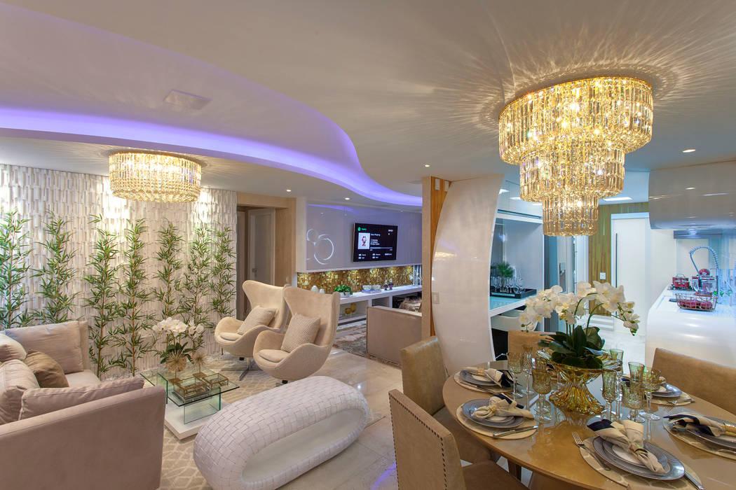Apartamento Cavalli Salas de estar modernas por Designer de Interiores e Paisagista Iara Kílaris Moderno
