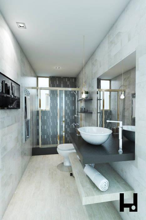 Minimalist style bathroom by HANS DIETER ARQUITECTO Minimalist
