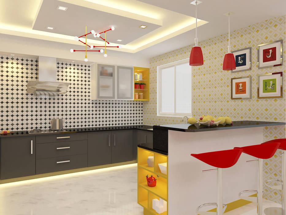 Apartment Interiors Scandinavian style kitchen by Honeybee Interior Designers Scandinavian