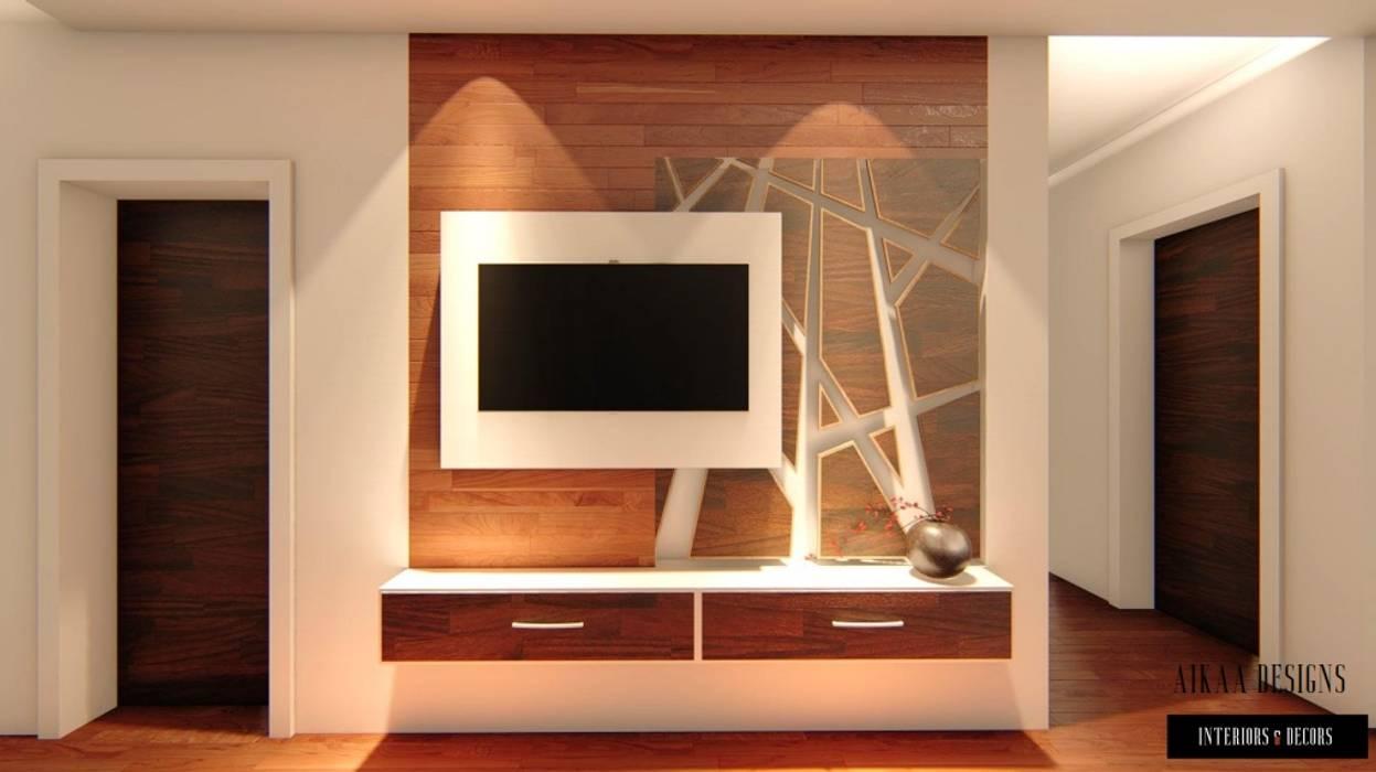 Salon de style  par Aikaa Designs, Minimaliste Contreplaqué
