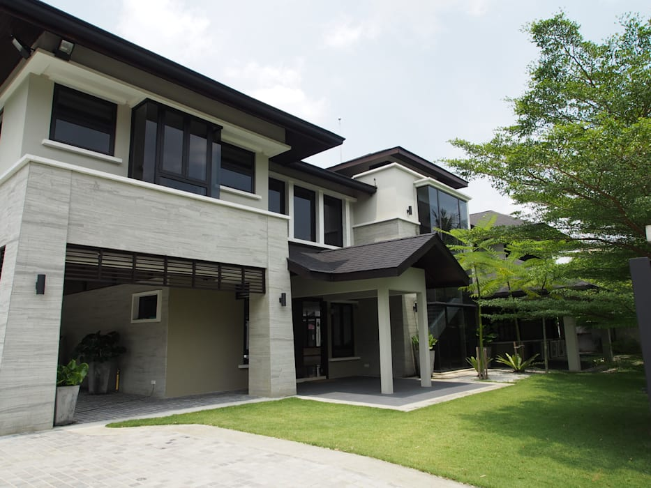 Luxury Bungalows @ Lorong Gurney Kuala Lumpur:  Garden by Mode Architects Sdn Bhd,