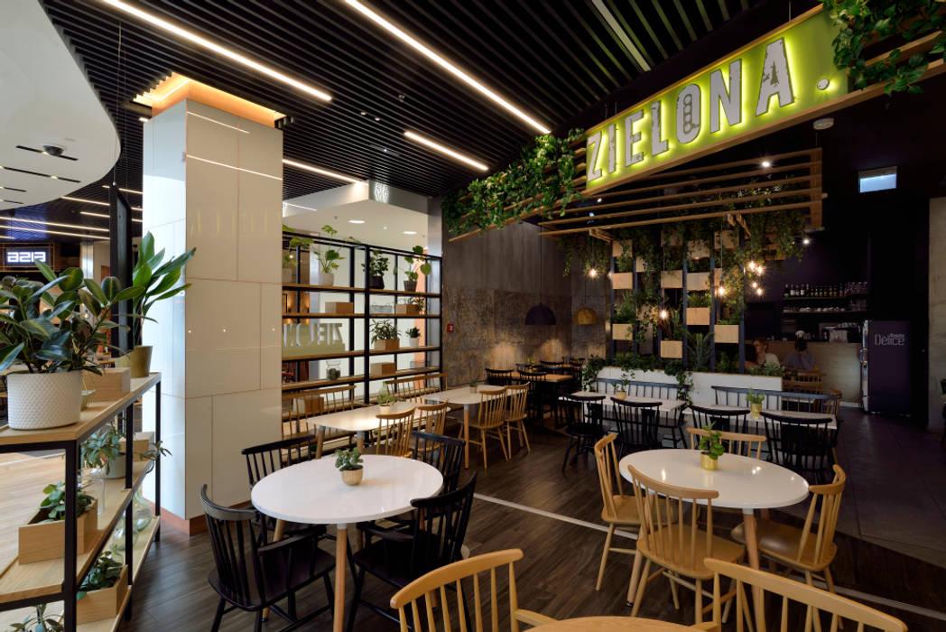 Fotografia wnętrz restauracji Zielona Archilens Łukasz Nowosadzki