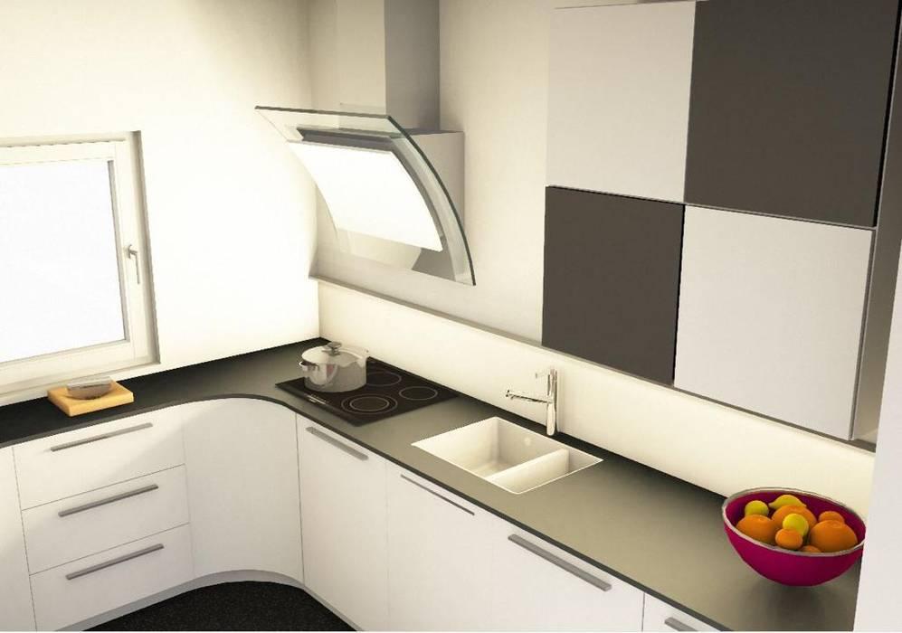 Viel Küche auf engstem Raum:  Küche von RGenau Industries GmbH & Co. KG