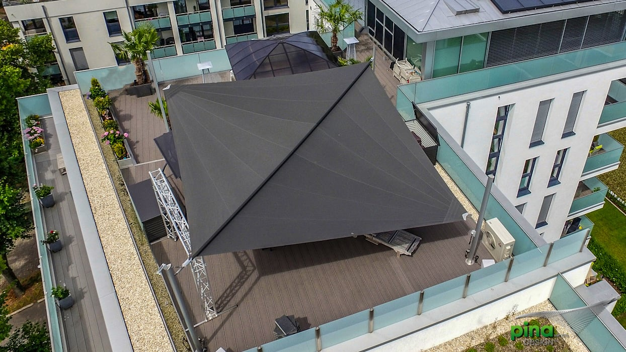 Pina GmbH - Sonnensegel Design Modern terrace Grey