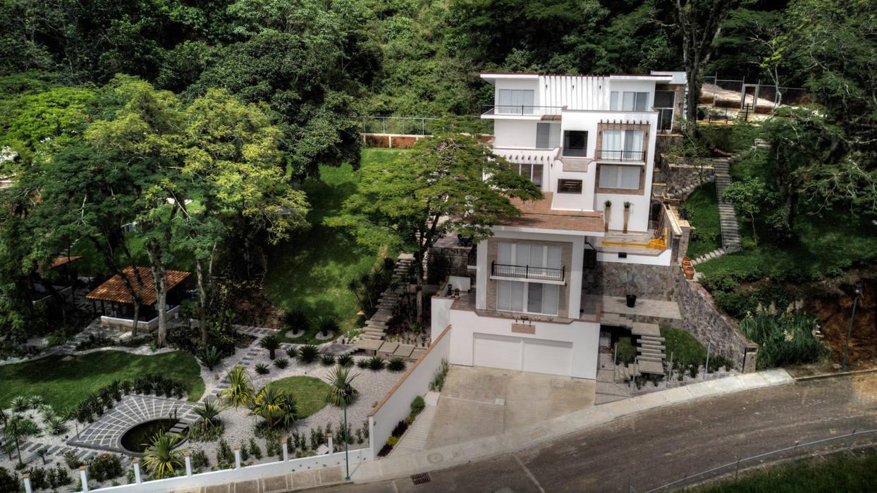 Casas unifamiliares de estilo  por GRUPO WALL ARQUITECTURA Y DISEÑO SA DE CV