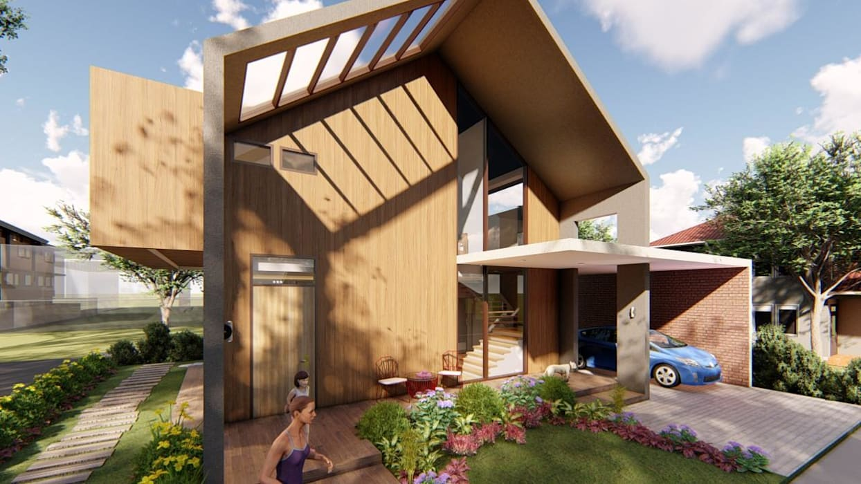 View of Skylight over Porch:  Single family home by Structura Architects