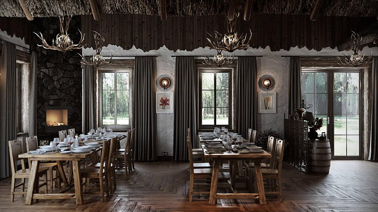 de mlynchyk interiors Rústico Bambú Verde