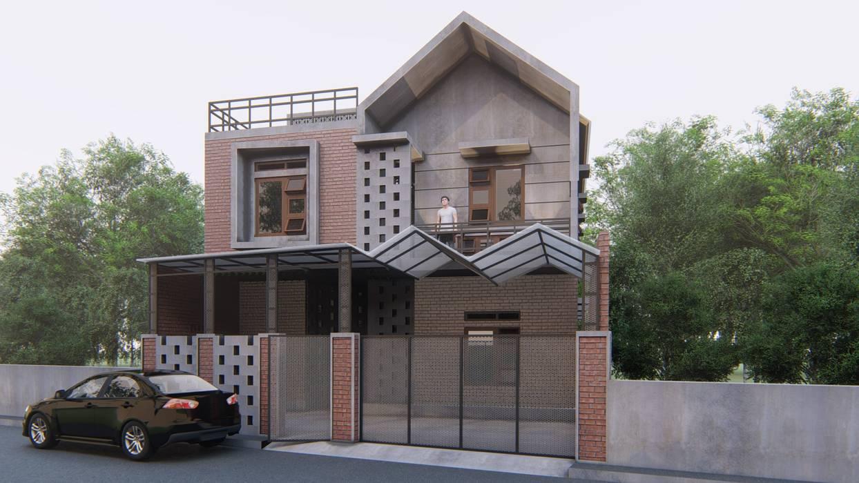 Desain kosan (13 pintu): Rumah oleh ARK-chitect.studio,