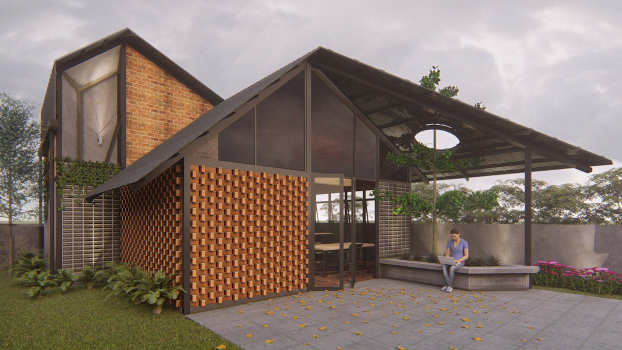 Desain kantor:  Rumah by ARK-chitect.studio