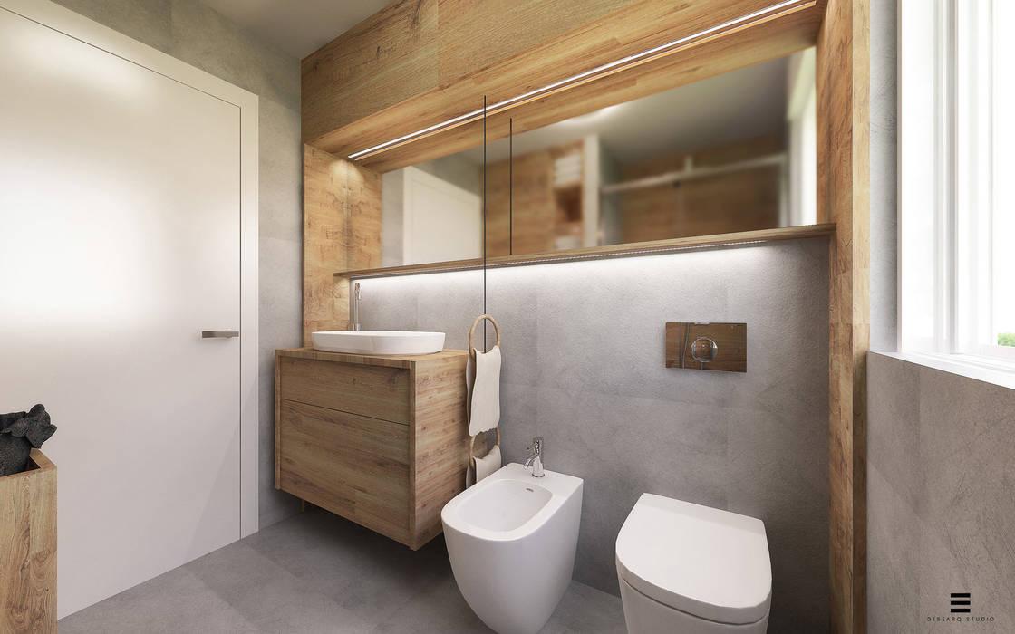 Bagno FF: Bagno in stile  di Desearq Studio _ architettura e interior design a Milano,