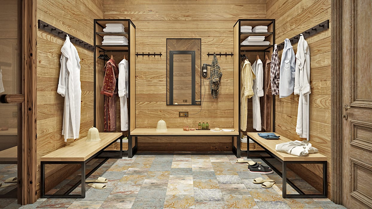 Rustic style dressing room by mlynchyk interiors Rustic