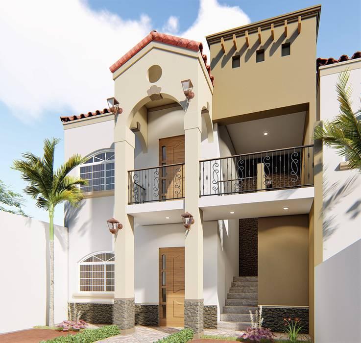 Casas multifamiliares de estilo  por Taller NR Arquitectura