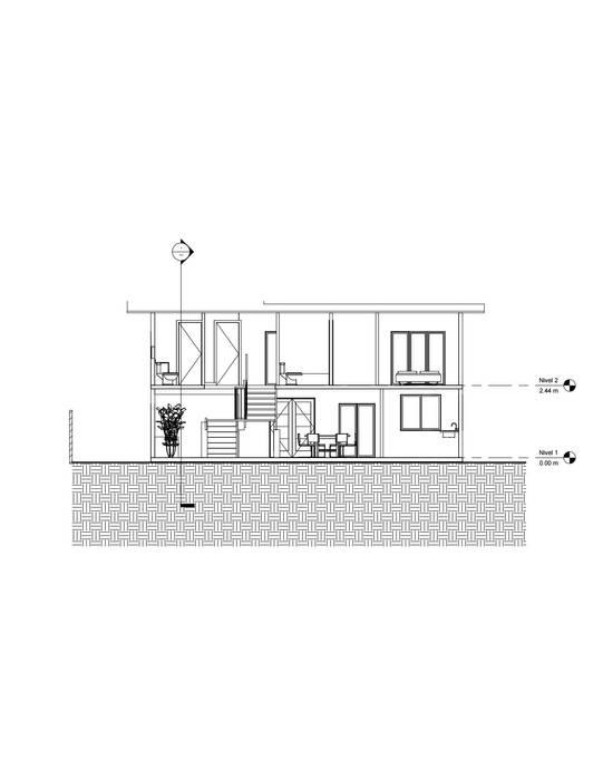 Corte longitudinal Constructora Alonso Spa Casas de estilo mediterráneo