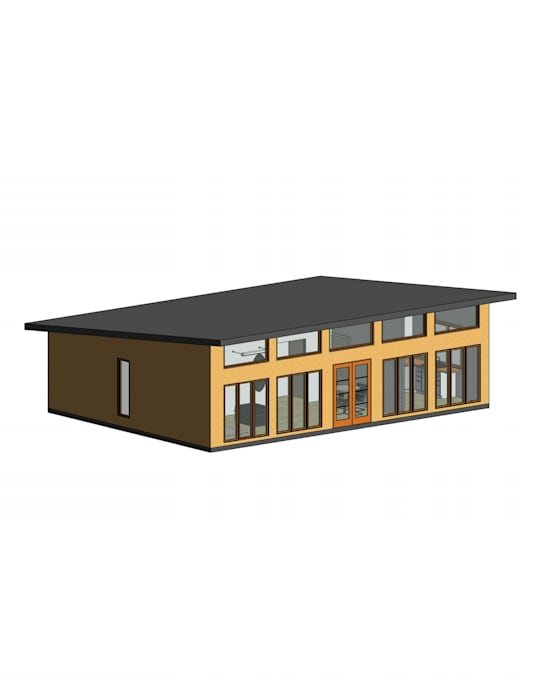 Modelo preliminar en 3D: Casas de estilo  por Constructora Alonso Spa