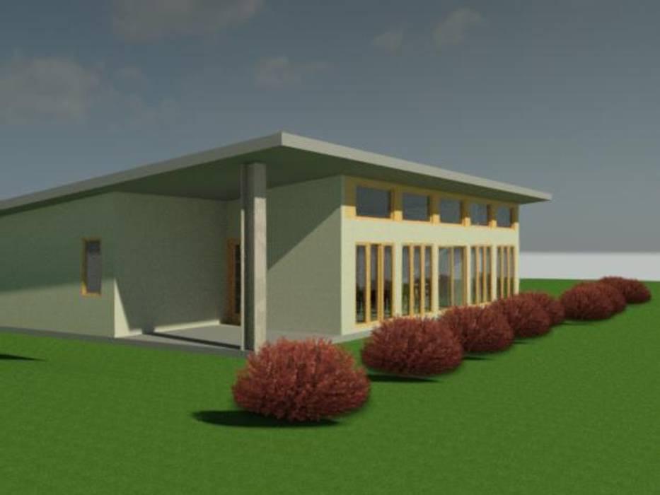 Modelos preliminar 3D Casas de estilo rústico de Constructora Alonso Spa Rústico