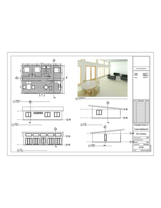 Entrega de propuesta: Casas de estilo  por Constructora Alonso Spa