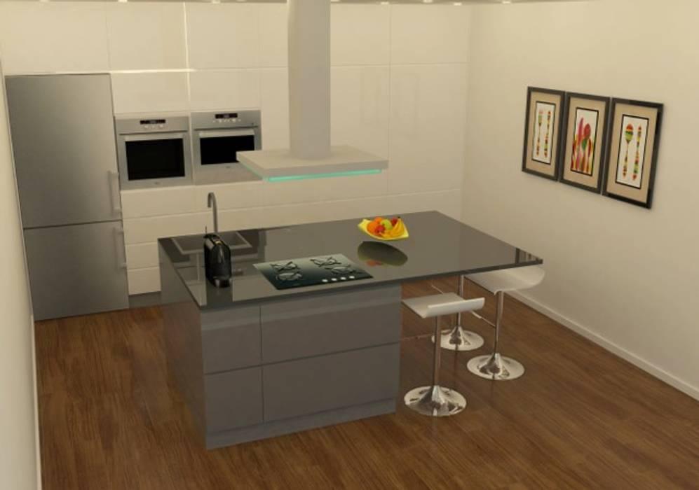 """Cozinha """"por medida"""": Cozinhas pequenas  por Casactiva Interiores"""