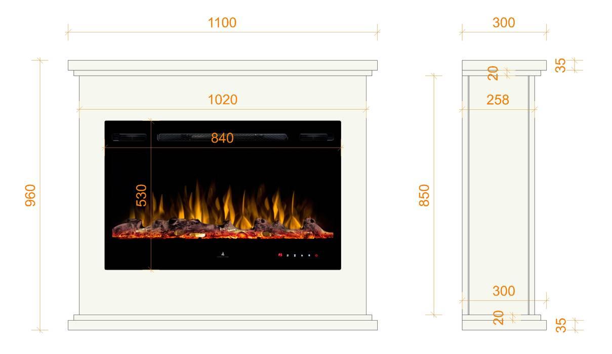 Classic style dining room by muenkel design - Elektrokamine aus Großentaft Classic