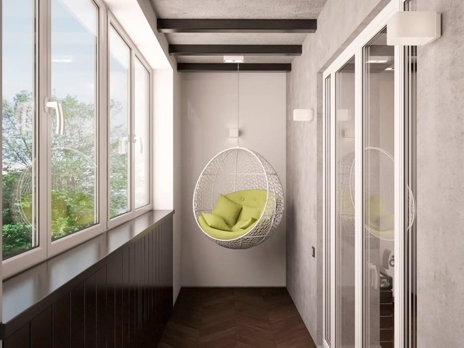 Balcón de estilo  por ekovaleva.prodesign, Minimalista