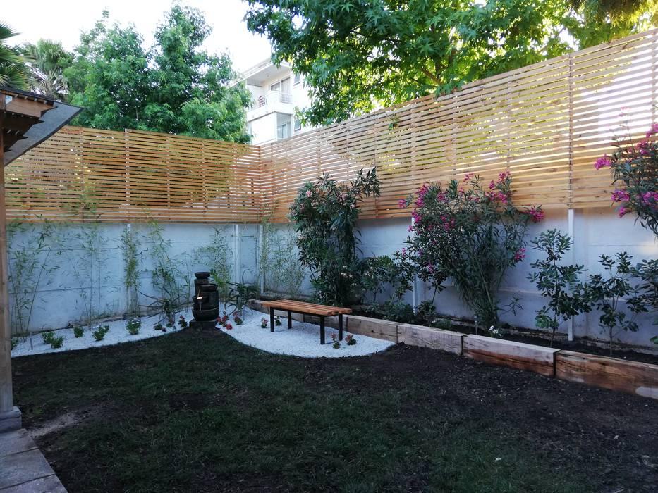 DESPUÉS: Jardines de estilo  por HZ ARQUITECTOS SANTIAGO DISEÑO COCINAS JARDINES PAISAJISMO REMODELACIONES OBRA, Minimalista