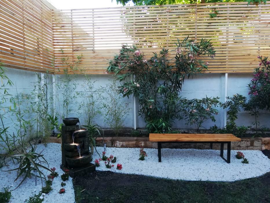 DESPUÉS Jardines de estilo minimalista de HZ ARQUITECTOS SANTIAGO DISEÑO COCINAS JARDINES PAISAJISMO REMODELACIONES OBRA Minimalista