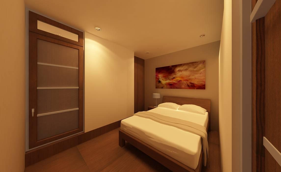 diseño de habitacion: Hoteles de estilo  por CAMALEON DISEÑOS